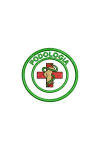 Bordado do símbolo da profissão - Podologia