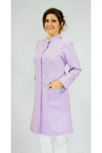 Jaleco colorido lilás com gola de padre - Modelo Colors