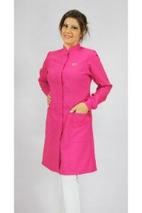 Jaleco colorido pink com gola de padre - Modelo Colors