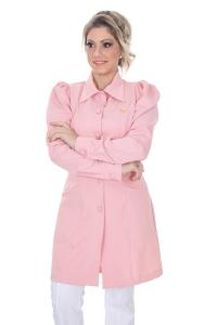Jaleco feminino com gola clássica - Modelo Isabele