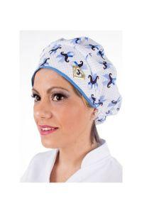 Touca cirúrgica com estampa Novembro Azul