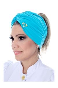 Turbante Azul Tifany