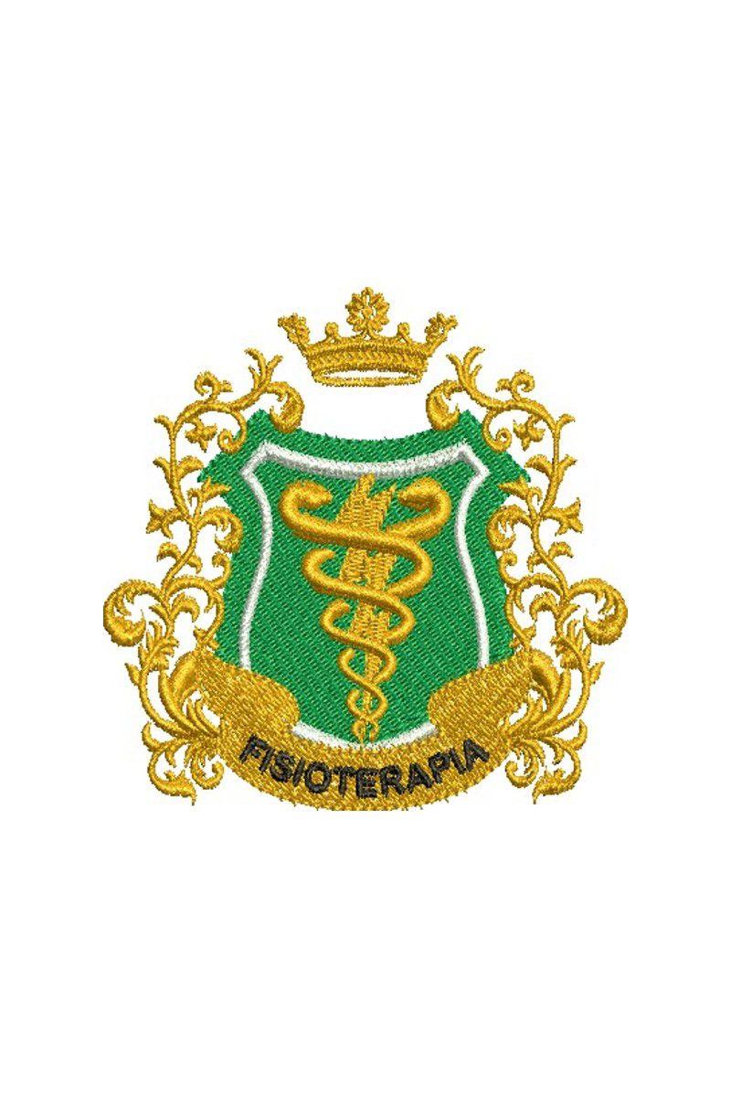 Bordado do símbolo da profissão - Fisioterapia 5