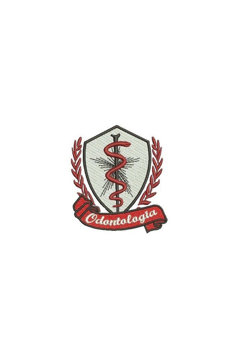 Bordado do símbolo da profissão - Odontologia 1