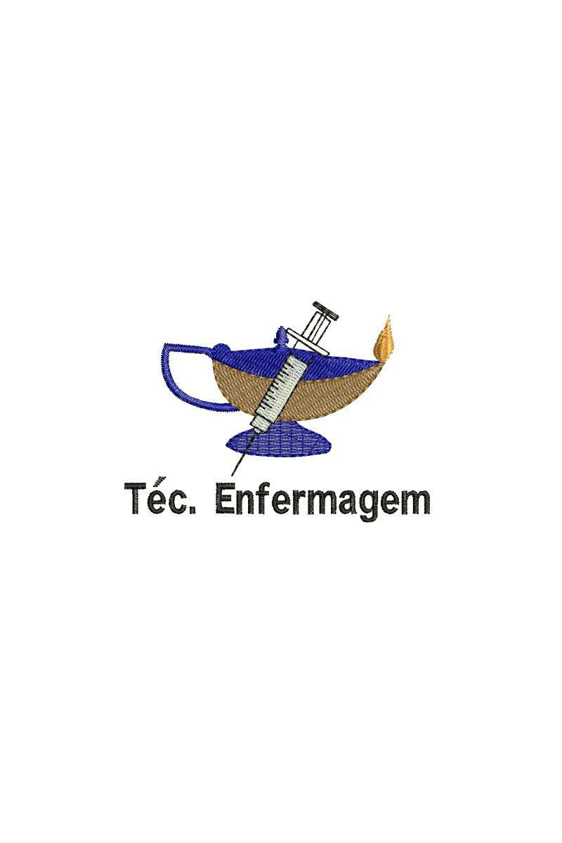 Bordado do símbolo da profissão - Técnido de Enfermagem 1
