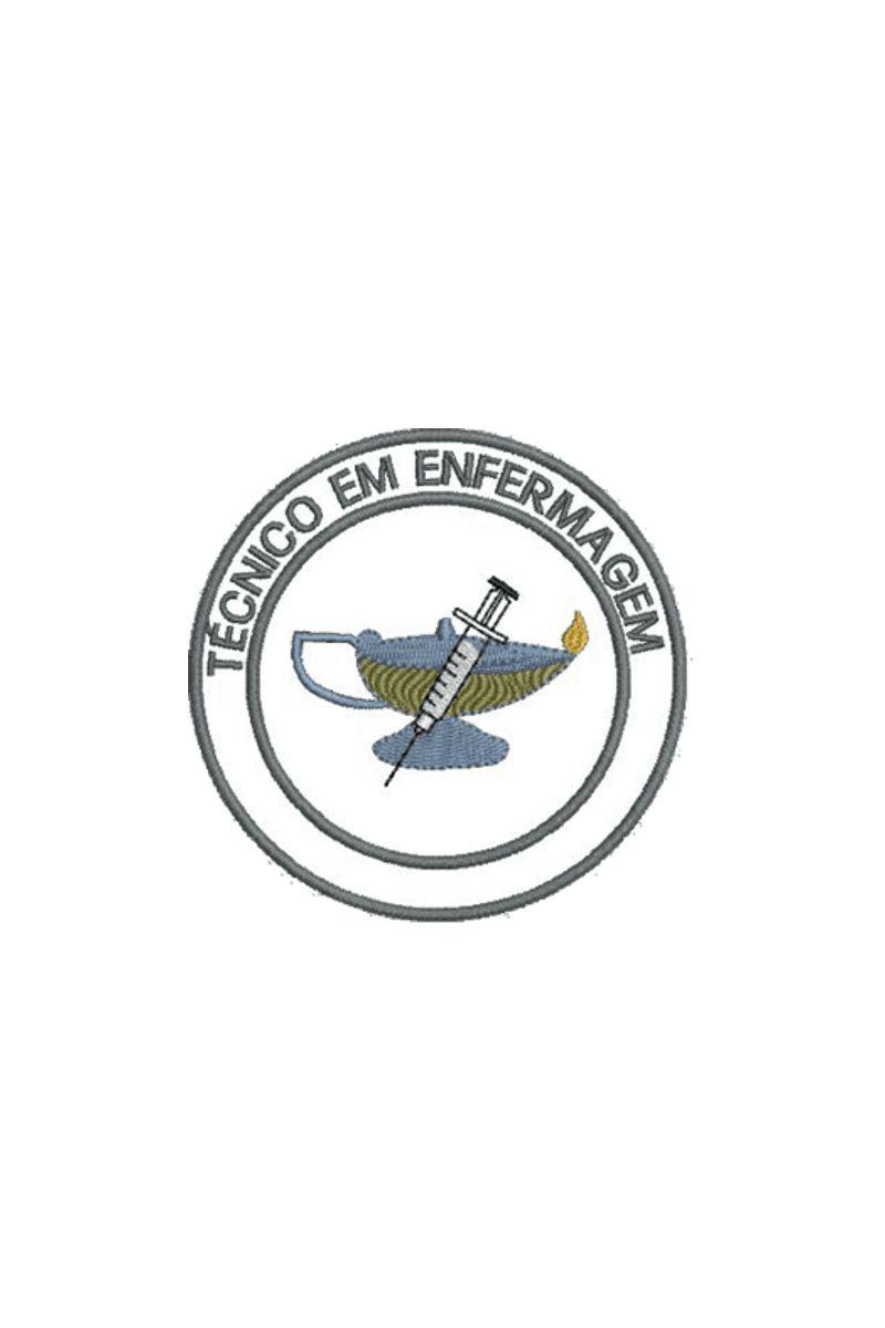 Bordado do símbolo da profissão - Técnido de Enfermagem