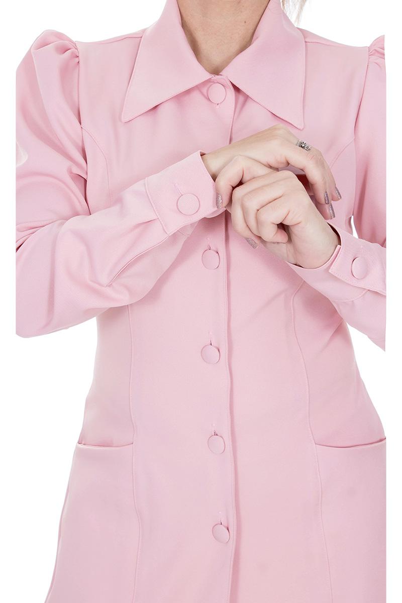 Jaleco feminino com gola clássica - Modelo Isabele  - Inform Jalecos