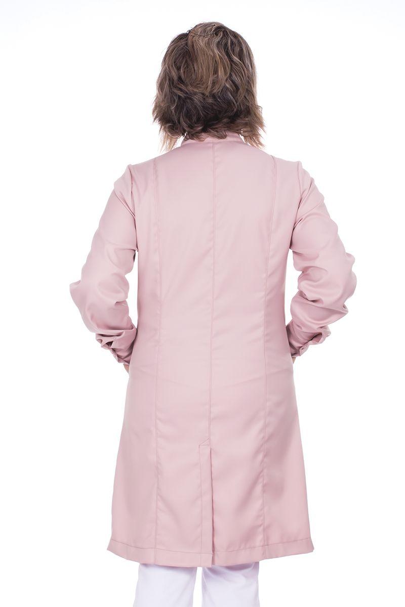 Jaleco feminino com gola de padre - Modelo Cristalle Rosê