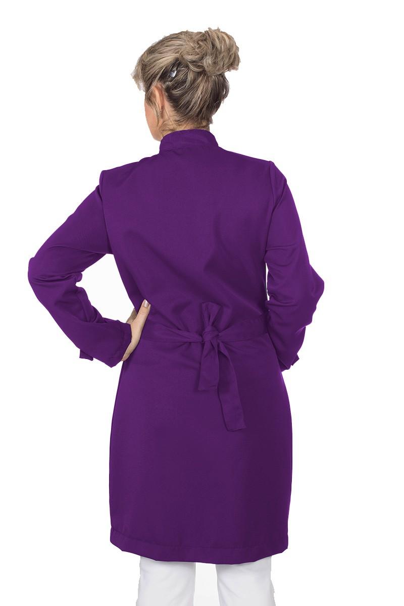 Jaleco feminino com gola de padre - Modelo Diamante Violet