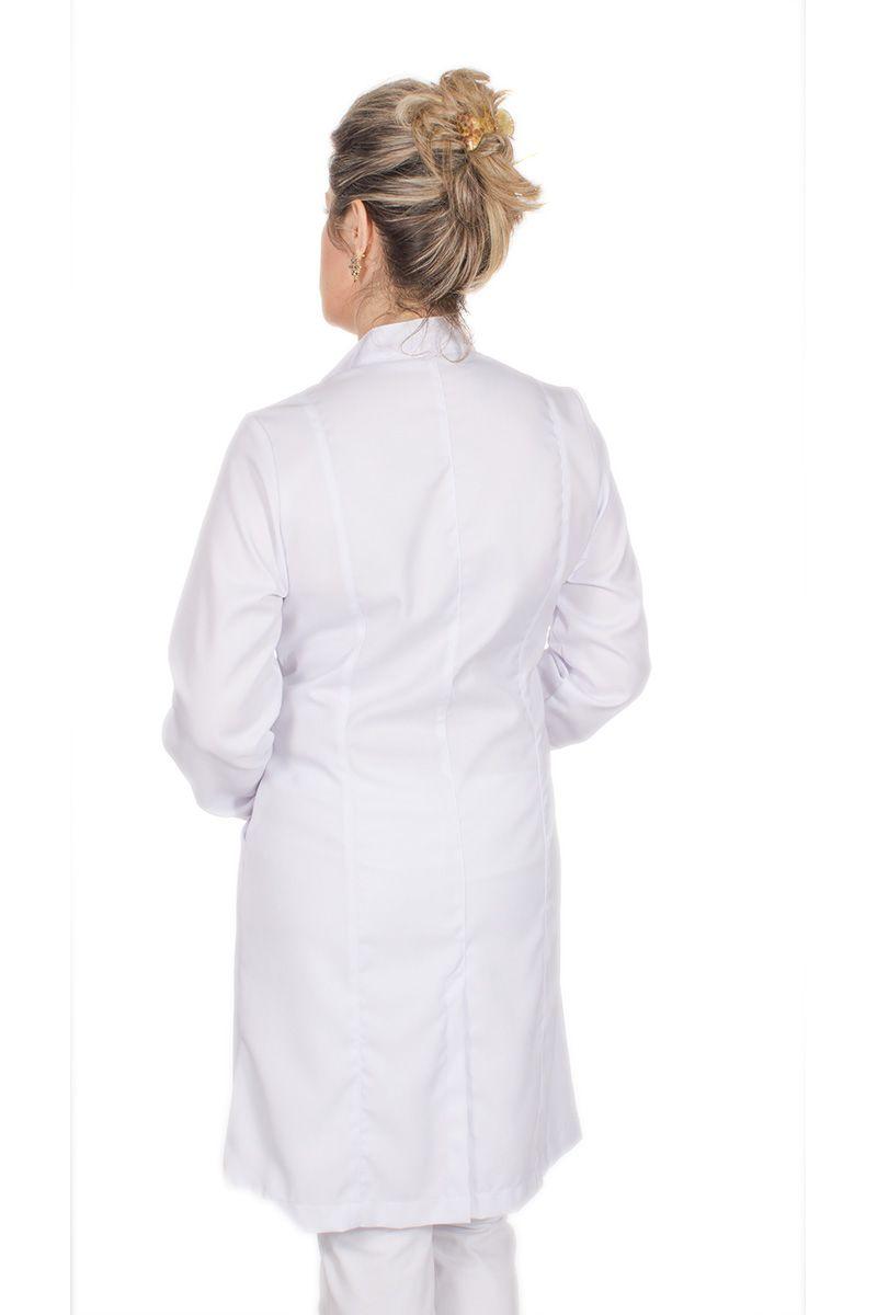 Jaleco feminino com gola de padre - Modelo Tynna Pink