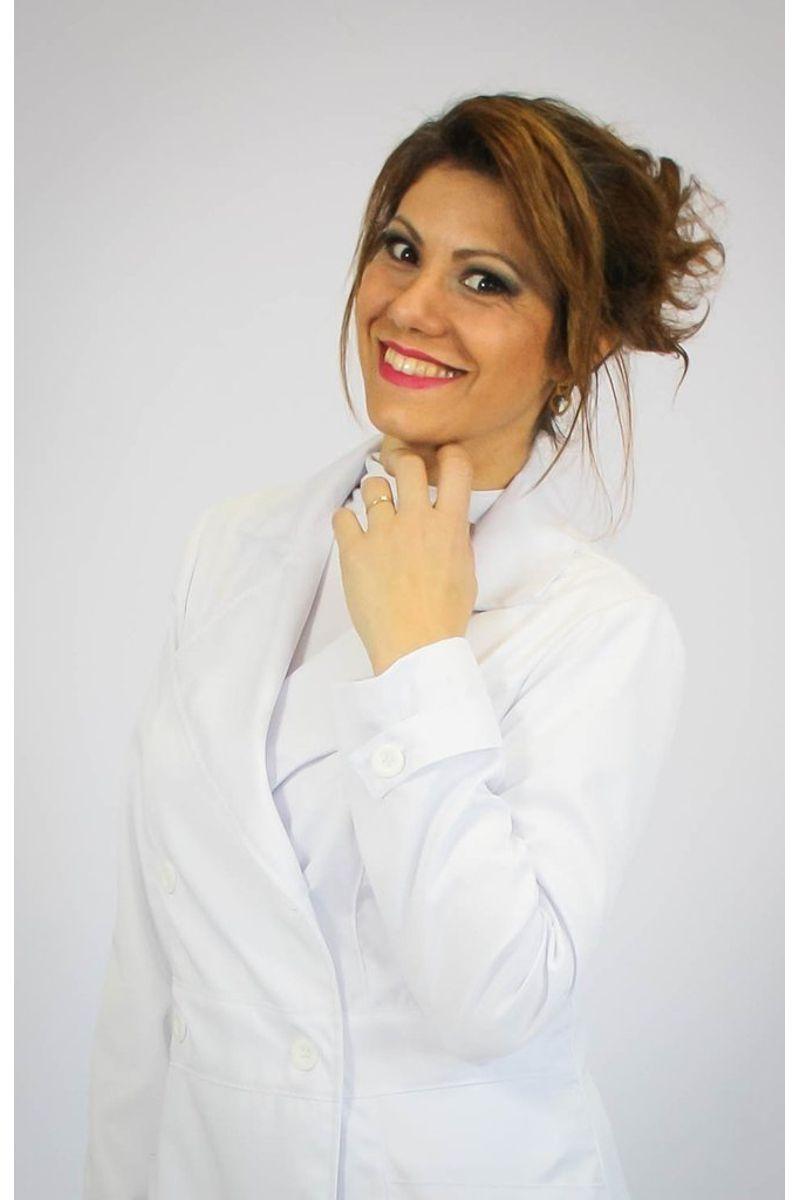 Jaleco feminino com gola tradicional - Modelo Íris