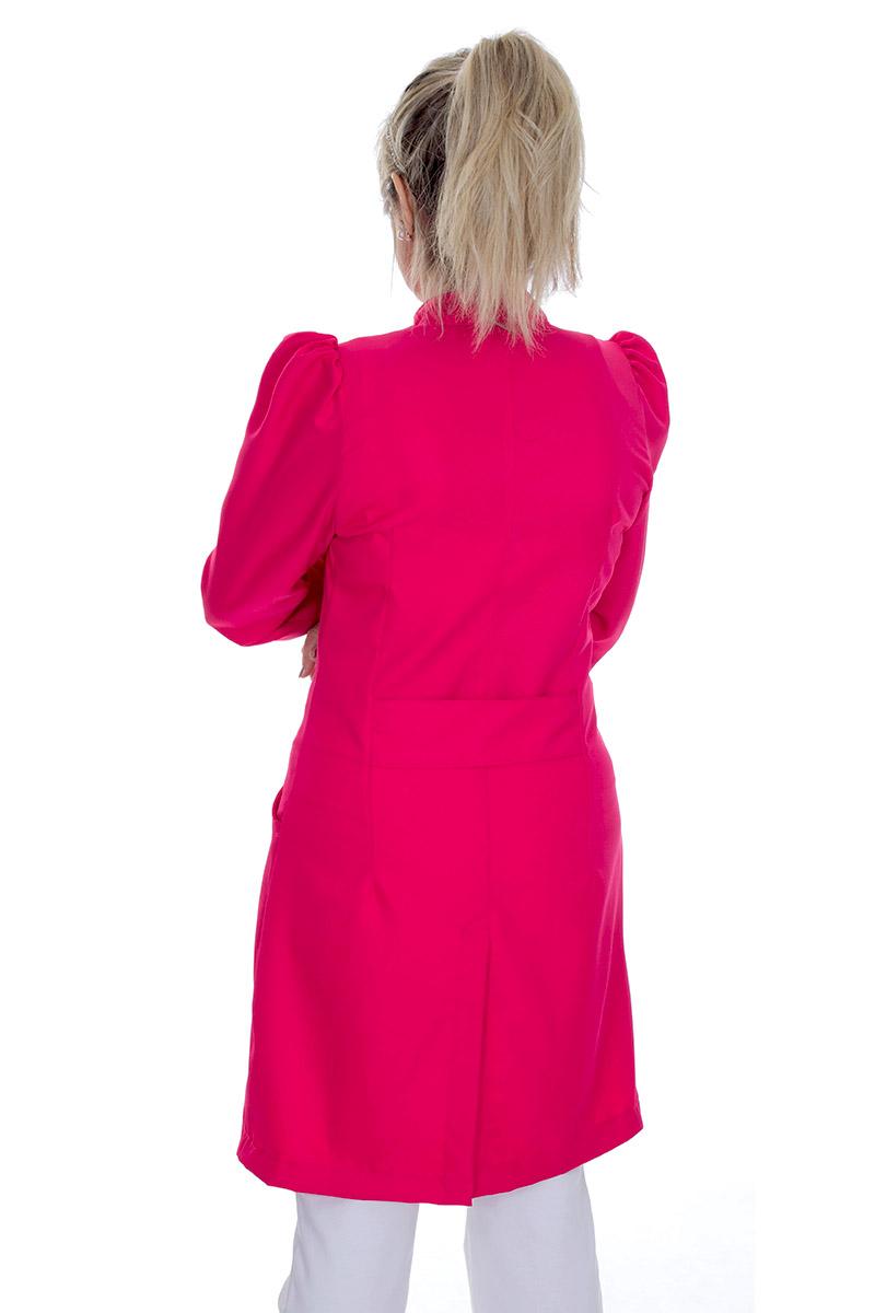Jaleco feminino gola de padre - Modelo Dafiny Pink  - Inform Jalecos