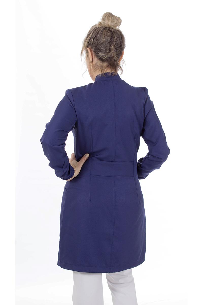 Jaleco feminino gola de padre - Modelo New Colors Azul Navy  - Inform Jalecos