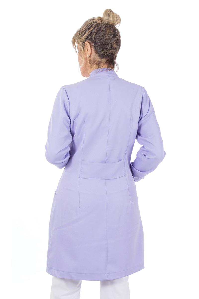 Jaleco feminino gola de padre - Modelo New Colors - Lilás  - Inform Jalecos
