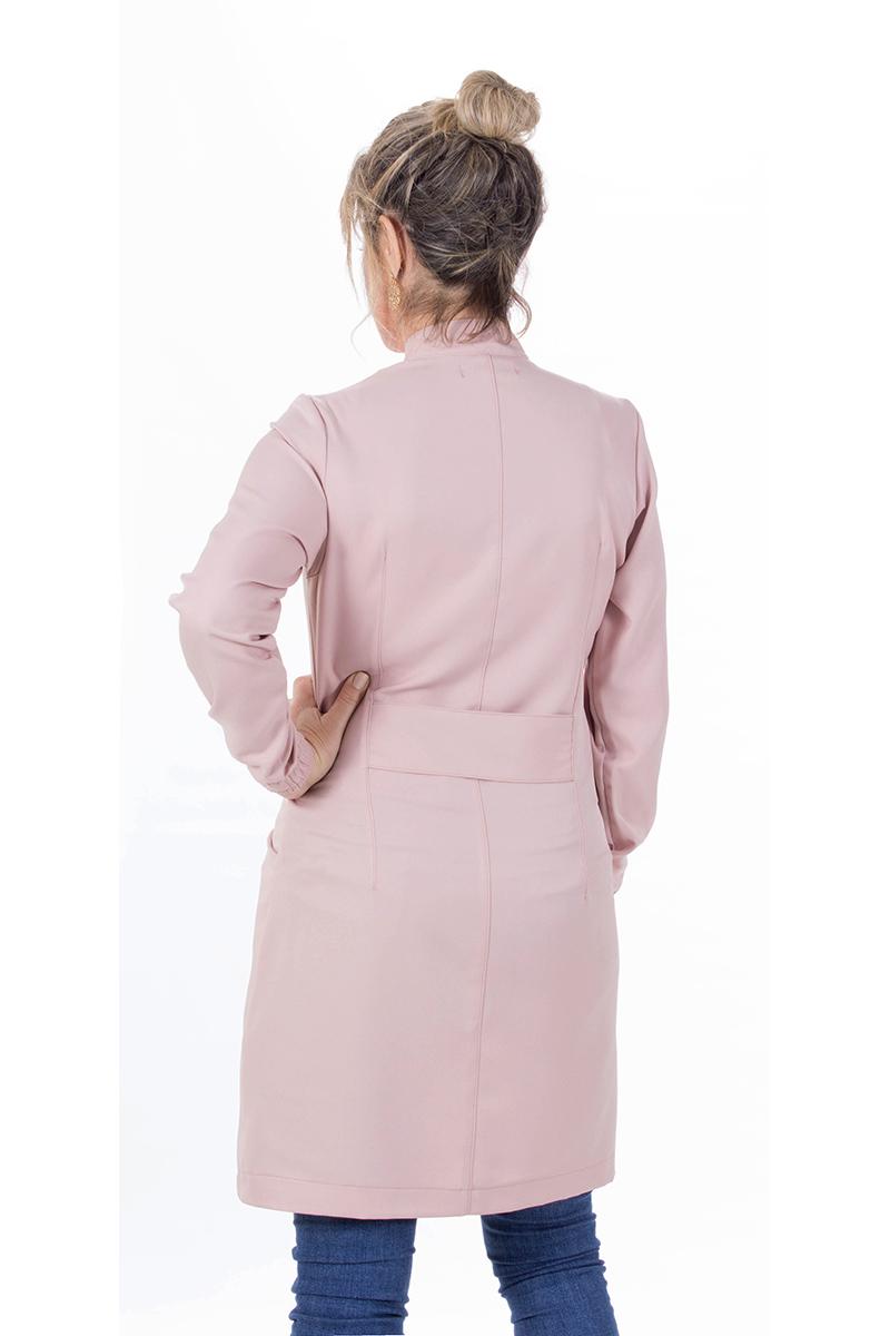 Jaleco feminino gola de padre - Modelo New Colors Nude  - Inform Jalecos