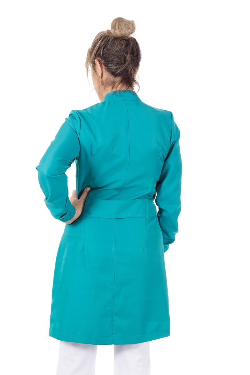 Jaleco feminino gola de padre - Modelo New Colors Turquesa  - Inform Jalecos