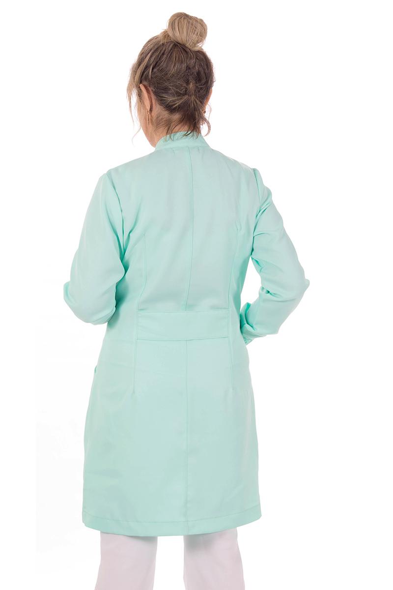 Jaleco feminino gola de padre - Modelo New Colors Verde-Claro  - Inform Jalecos