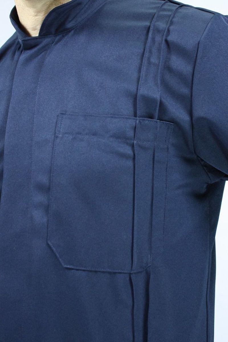 Jaleco masculino com gola de padre - Modelo Granada