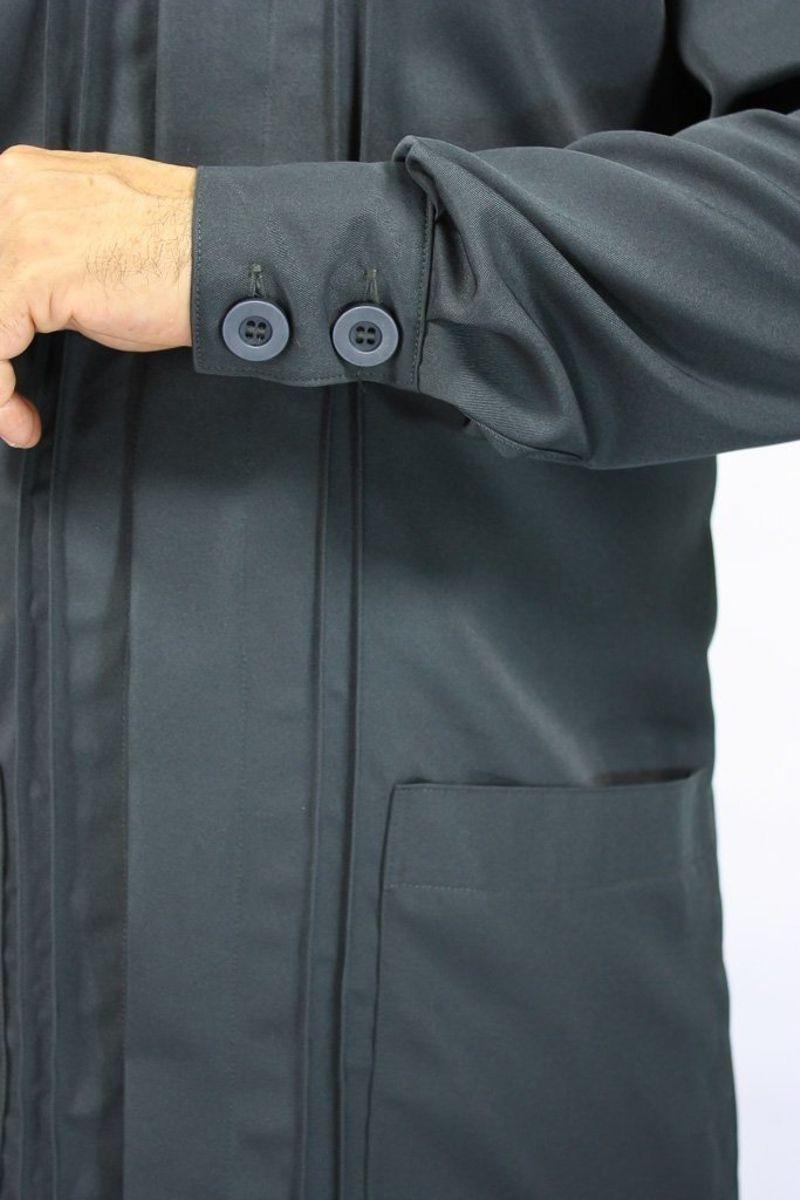 Jaleco masculino com gola de padre - Modelo Omega