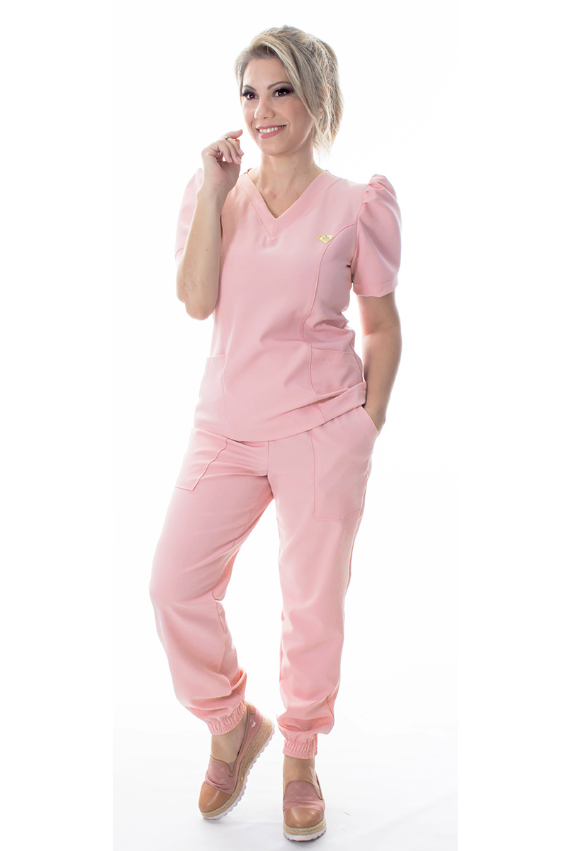 Scrub Belle feminino - Rosa Blush  - Inform Jalecos