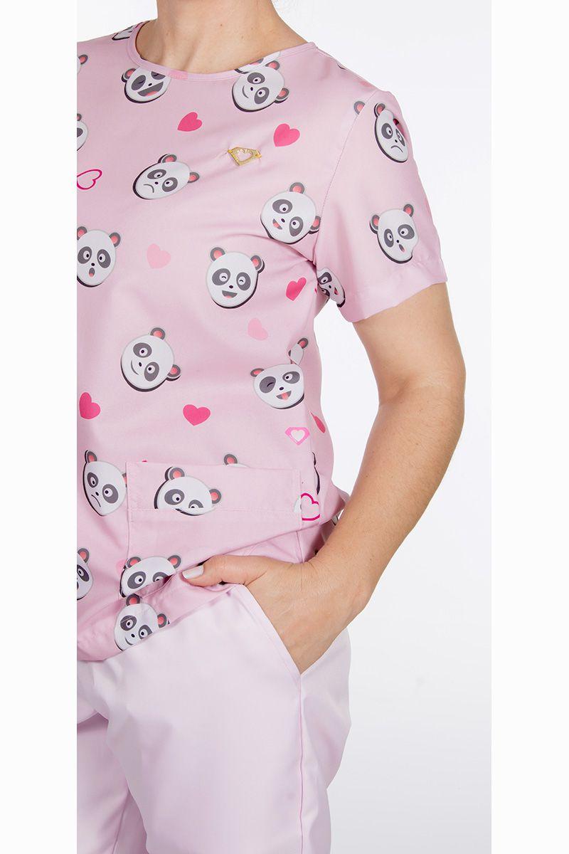 Scrub feminino estampado - Pandas