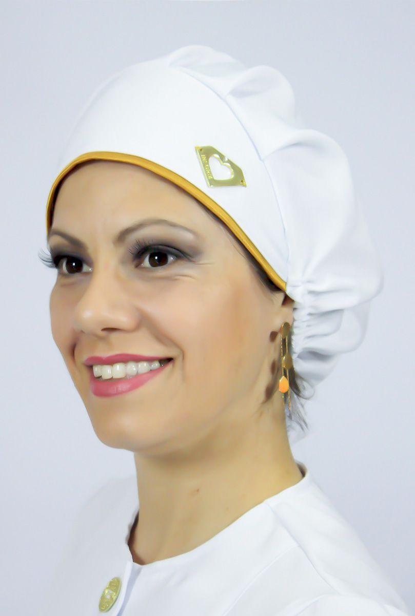 Touca cirúrgica com viés colorido - Gold