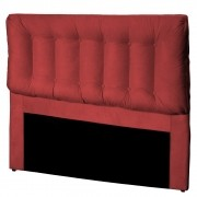 Cabeceira Cama Box Casal 160cm Conforto Suede Vermelho - Sheep Estofados