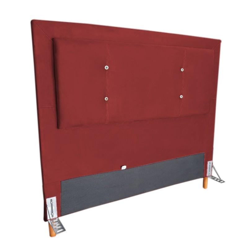 Cabeceira Cama Box Casal 140cm Caribe Suede Vermelho - Sheep Estofados
