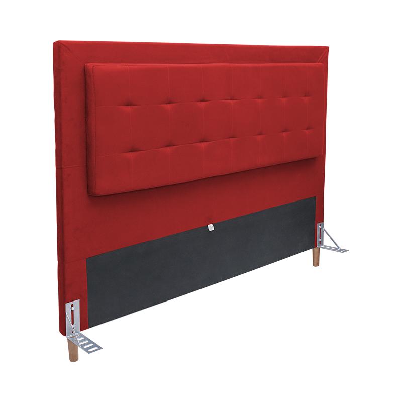 Cabeceira Cama Box King 195cm Paris Suede Vermelho - Sheep Estofados