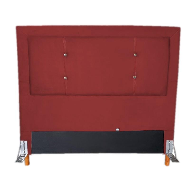 Cabeceira Cama Box Queen 160cm Caribe Suede Vermelho - Sheep Estofados