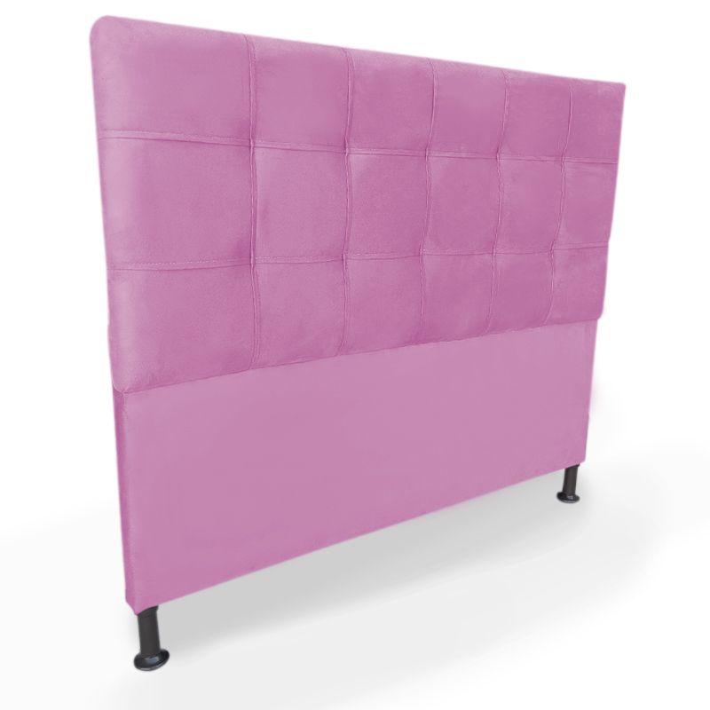 Cabeceira Cama Box Queen 160cm Maya Veludo Pink  - Sheep Estofados