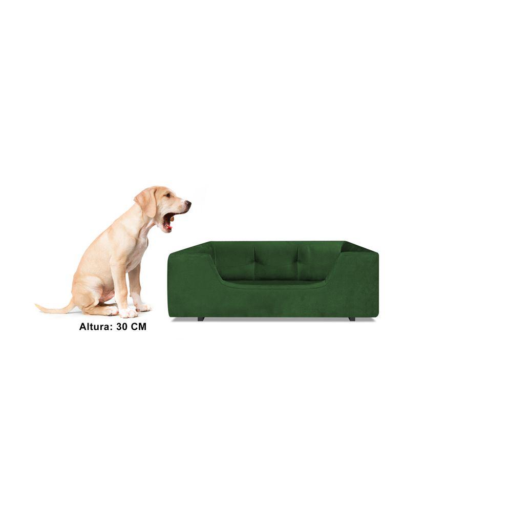 Caminha Retangular Pet Meg P 50cm Suede Verde - Bella Cama