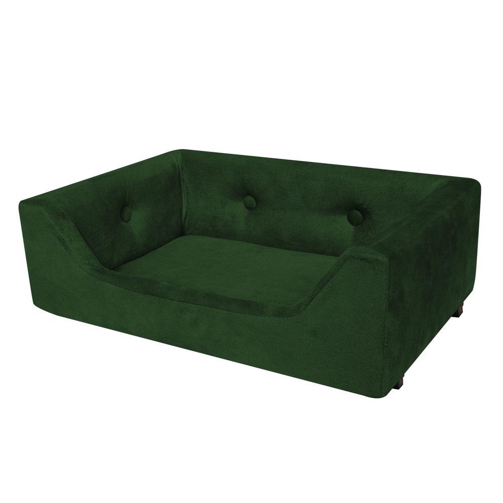 Caminha Retangular Pet Mel M 60cm Suede Verde - Bella Cama