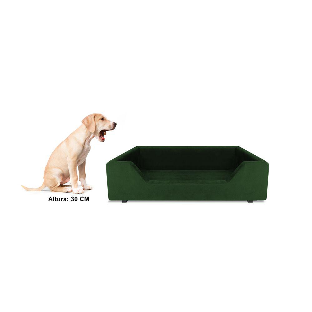Caminha Retangular Pet Molly M 60cm Suede Verde - Bella Cama