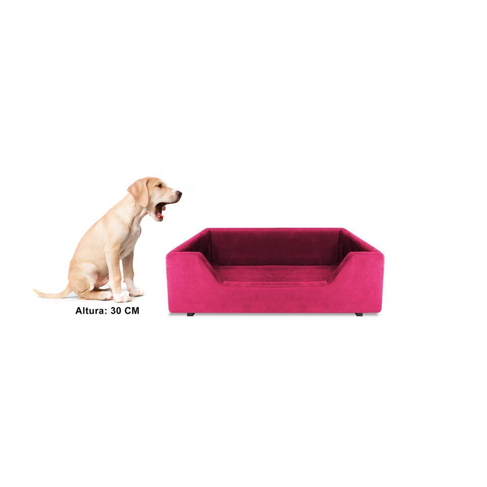 Caminha Retangular Pet Molly P 50cm Suede Rosa - Bella Cama
