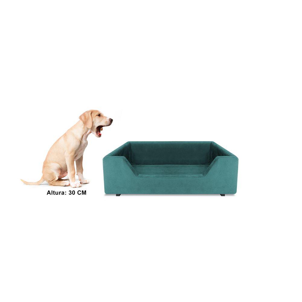 Caminha Retangular Pet Molly P 50cm Suede Turqueza - Bella Cama