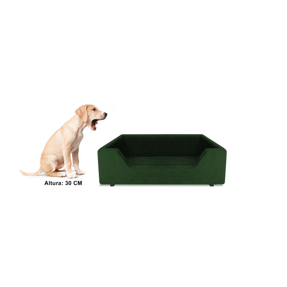 Caminha Retangular Pet Molly P 50cm Suede Verde - Bella Cama