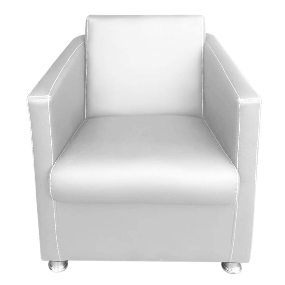 Poltrona Decorativa Átila Courvin Branco - Sheep Estofados