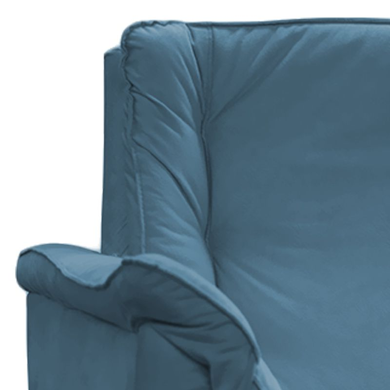 Poltrona Decorativa Mônica 1 Lugar Suede Azul - Matrix