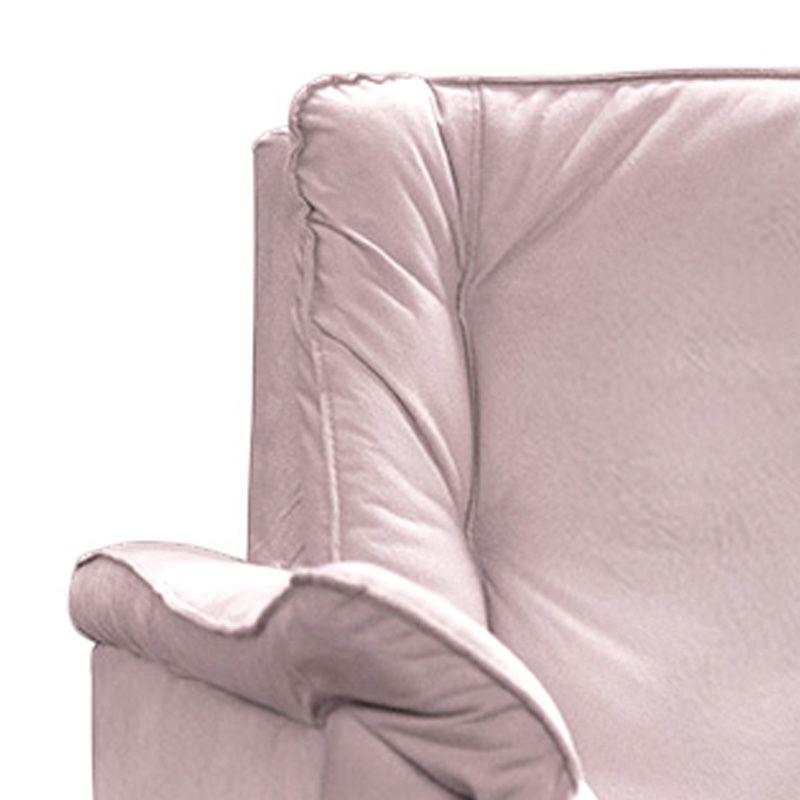 Poltrona Decorativa Mônica 1 Lugar Suede Rosa - Matrix