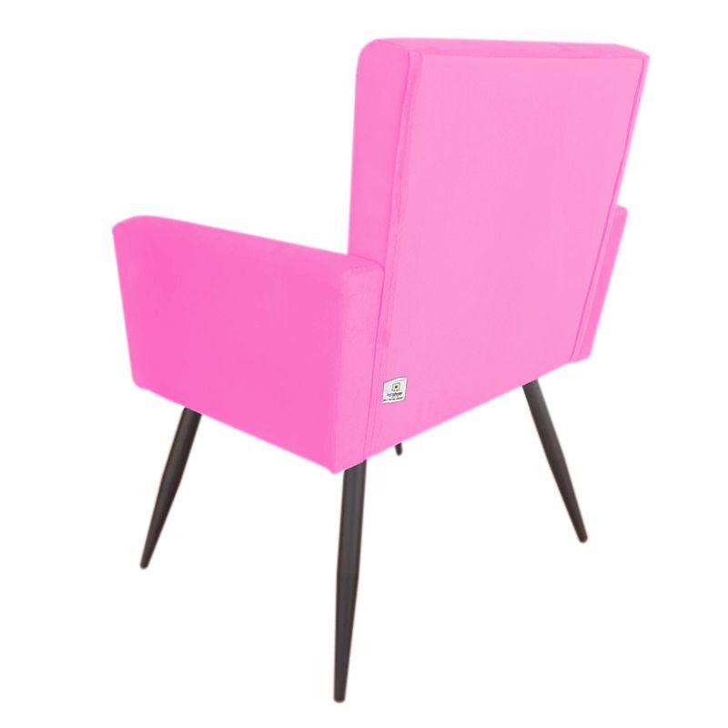 Poltrona Decorativa Nina Pés Palito de Ferro Veludo Pink - Sheep Estofados