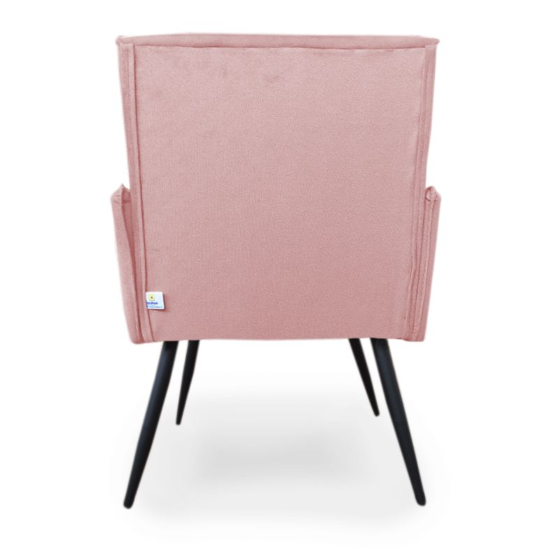 Poltrona Decorativa Vênus com Debrum Pés Palito de Ferro Suede Rosê - Sheep Estofados