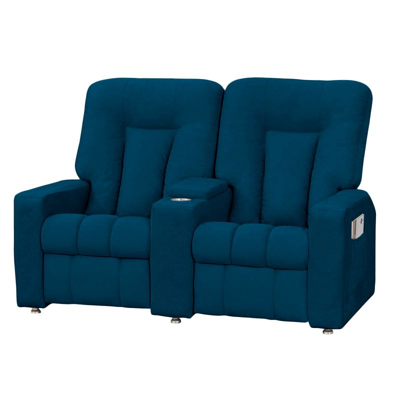 Poltrona do Papai Jetta 02 Lugares Reclinável Azul- Matrix