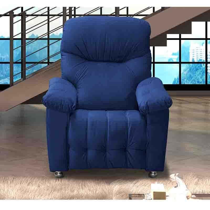 Poltrona do Papai Reclinável Virtus MX38 Azul - Matrix