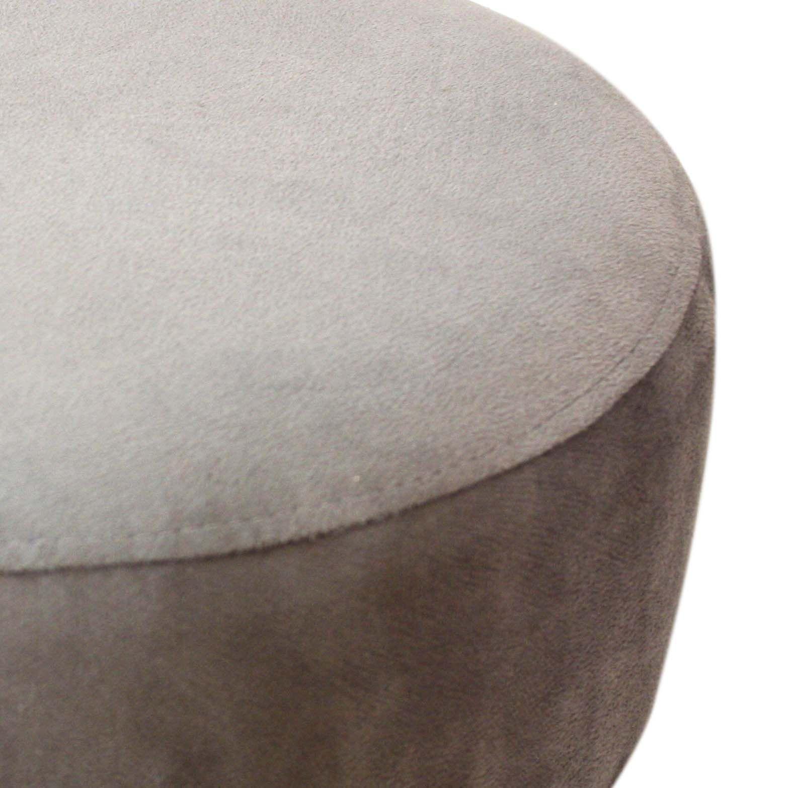 Puff Decorativo Cinza Pés Palito Irlanda  - Sheep Estofados