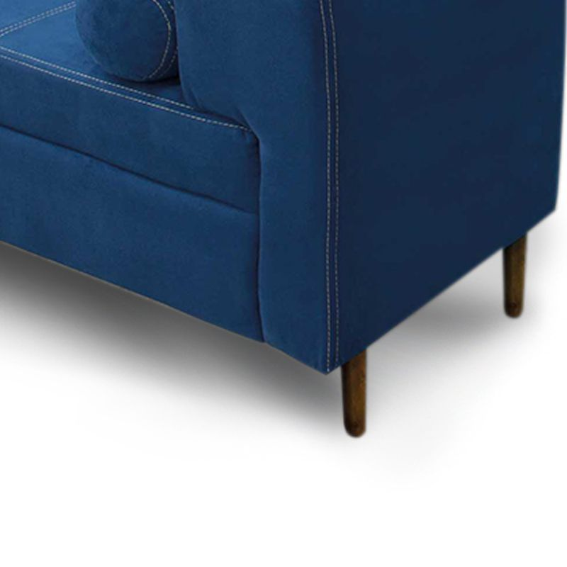 Recamier Casal Queen 160cm Turim Veludo Azul - Simbal