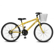 Bicicleta Kyklos Aro 24 Magie 21V Amarelo