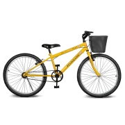 Bicicleta Kyklos Aro 24 Magie Sem Marchas Amarelo