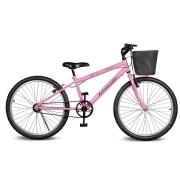 Bicicleta Kyklos Aro 24 Magie Sem Marchas Rosa