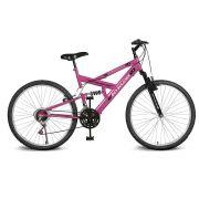 Bicicleta Kyklos Aro 26 Caballu 7.2 Alumínio Natural 21V Pink